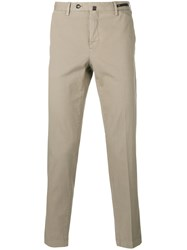 Pt01 Skinny Cropped Trousers Nude Neutrals