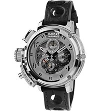 U Boat 8065 Chimera Net Leather Strap Silver Watch