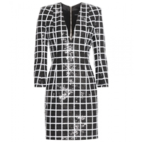 Balmain Sequin Dress Black White