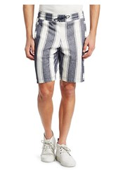 Madison Supply Striped Cotton Shorts Off White