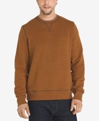 G.H. Bass And Co. Men's Mountain Fleece Sweater Leather Brown Heather