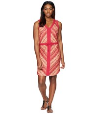 Marmot Remy Dress Rosebud Feather Red