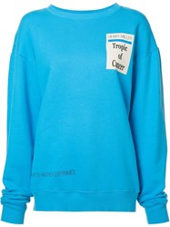 Enfants Riches Deprimes Logo Print Sweatshirt Blue