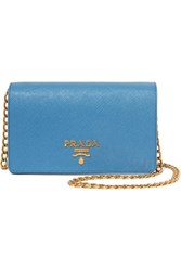 Prada Textured Leather Shoulder Bag Light Blue