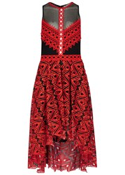 Jonathan Simkhai Red Embroidered Organza Dress