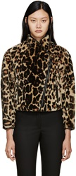 Burberry Leopard Print Shearling Jacket