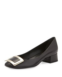 Roger Vivier Belle De Nuit Leather Pump Black