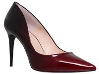 Carvela Alicia High Heel Court Shoes Black Red Patent