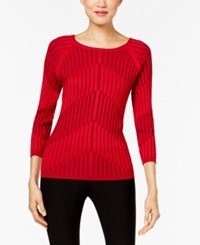 Joseph A Ribbed Knit Sweater Scarlet Sage