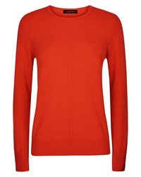 Jaeger Cashmere Crew Neck Sweater Orange