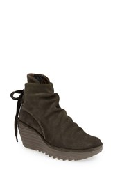Women's Fly London 'Yama' Bootie Sludge Suede
