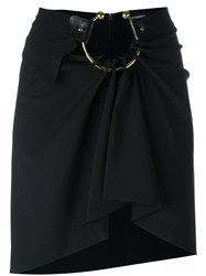 Anthony Vaccarello Hoop Mini Skirt Black