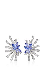 Hueb Mirage 18K White Gold Diamond And Tanzanite Earrings Blue