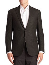 Ralph Lauren Purple Label Nigel Two Button Wool And Cashmere Sportcoat Charcoal