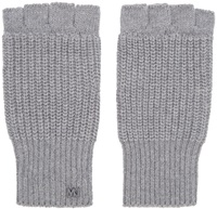 Marc By Marc Jacobs Grey Knit Fingerless Gloves