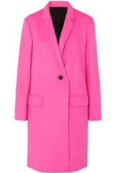 Helmut Lang Wool And Cashmere Blend Coat Pink