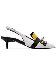 Marques Almeida Marques'almeida Spiked Slingback Mules White