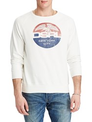 Ralph Lauren Denim And Supply Cotton Graphic Sweatshirt Antique White
