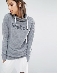 Reebok Classic Logo Pull Over Roll Neck Hoodie Grey