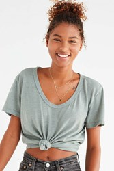 Truly Madly Deeply Knot Front Tee Green