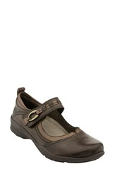 Earthr Women's Earth 'Angelica' Mary Jane Flat Bark Leather