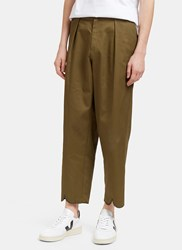 J.W.Anderson Pleat Back Wide Leg Pants Khaki