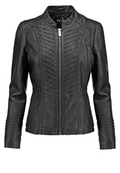 Wallis Gothic Biker Faux Leather Jacket Black