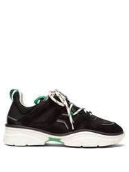 Isabel Marant Kindsay Leather And Suede Trainers Black Green