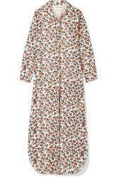 By Malene Birger Sultry Floral Print Cotton Maxi Dress Cream