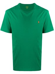 Ralph Lauren Logo Embroidered T Shirt Green