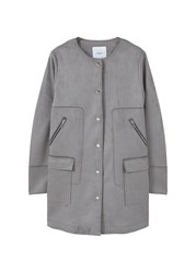 Mango Straight Pockets Coat Grey