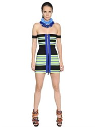 Dsquared Striped Elastic Bandage Bodycon Dress