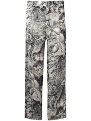 F.R.S For Restless Sleepers Jungle Print Trousers Black