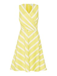 Dickins And Jones Grace Cotton Printed Fit Flare Dress Yellow