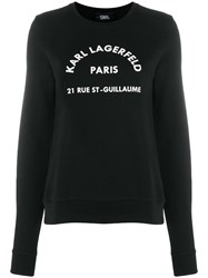Karl Lagerfeld Address Logo Sweatshirt Black