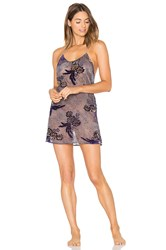 Only Hearts Club Paisley Park Low Back Chemise Blue