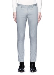Topman Skinny Fit Cotton Twill Pants Grey