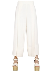 Sportmax Stretch Cady Palazzo Pants Cream