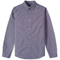 A.P.C. Button Down Oxford Shirt Blue