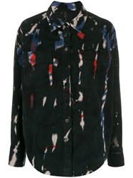 Raquel Allegra Contrast Detail Button Down Shirt 60