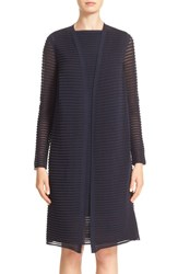 Lafayette 148 New York Women's Sheer Stripe Cardigan