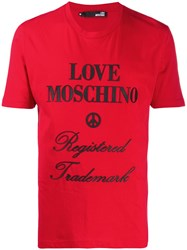 Love Moschino Rubberised Logo Relaxed Fit T Shirt 60