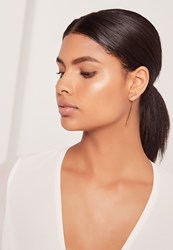 Missguided Drop Detail Earrings Gold Gold