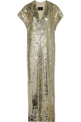 By Malene Birger Kiwina Sequined Crepe Dress Metallic