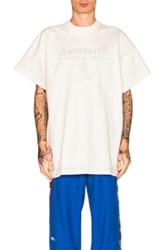 Vetements X Hanes Oversized Double Tee In White