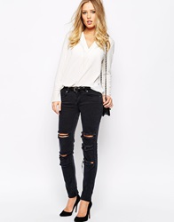 Supertrash Paradise Ripped Mid Grey Jeans Midgrey