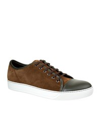 Lanvin Suede Trainers Male Brown