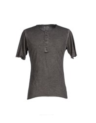 Individual Topwear T Shirts Men Grey