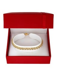 Lord And Taylor 14K Yellow Gold Twisted Rope Bracelet