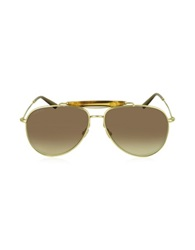 Gucci Gg 2235 S J5goh Aviator With Bamboo Detail Sunglasses Gold